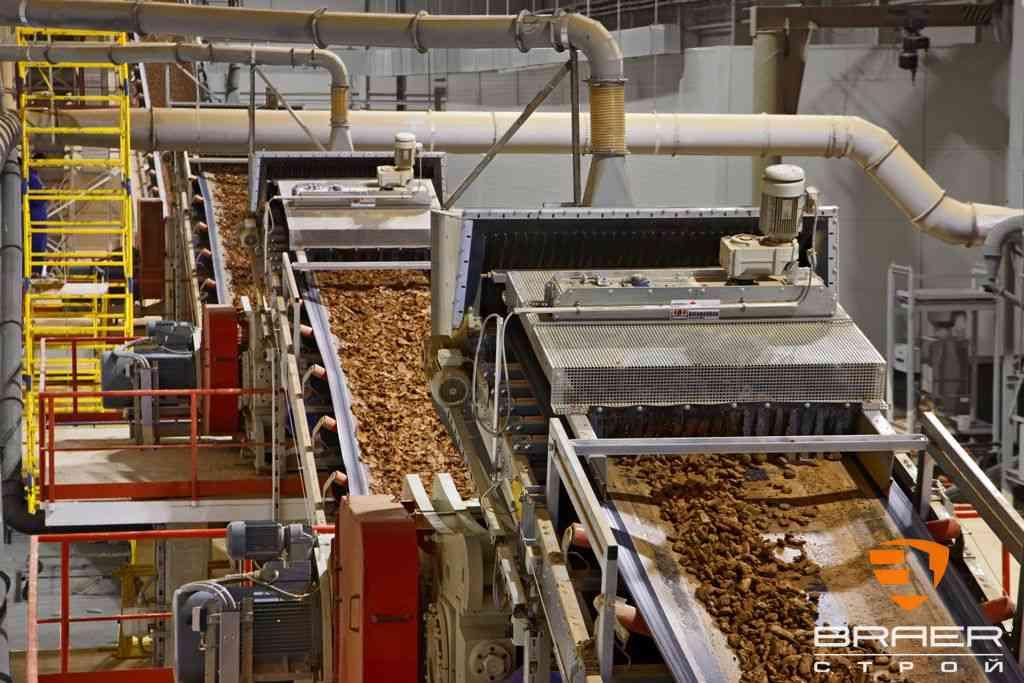 Кирпичный завод - экструдирование сырья для производства кирпича