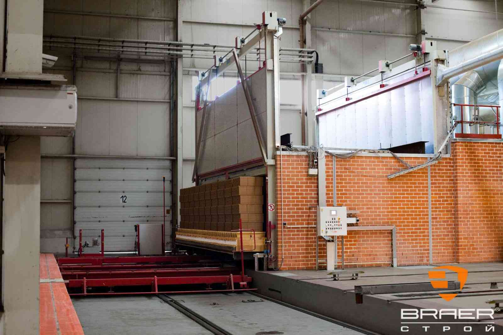 Кирпичный завод - печь для обжига кирпича