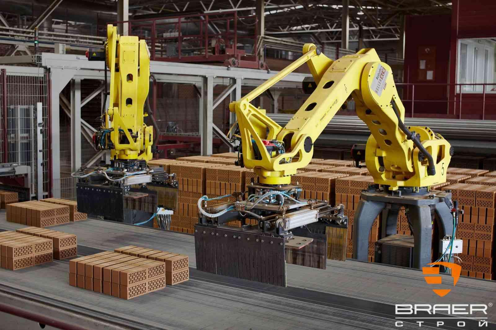 Кирпичный завод - роботизированное производство кирпича