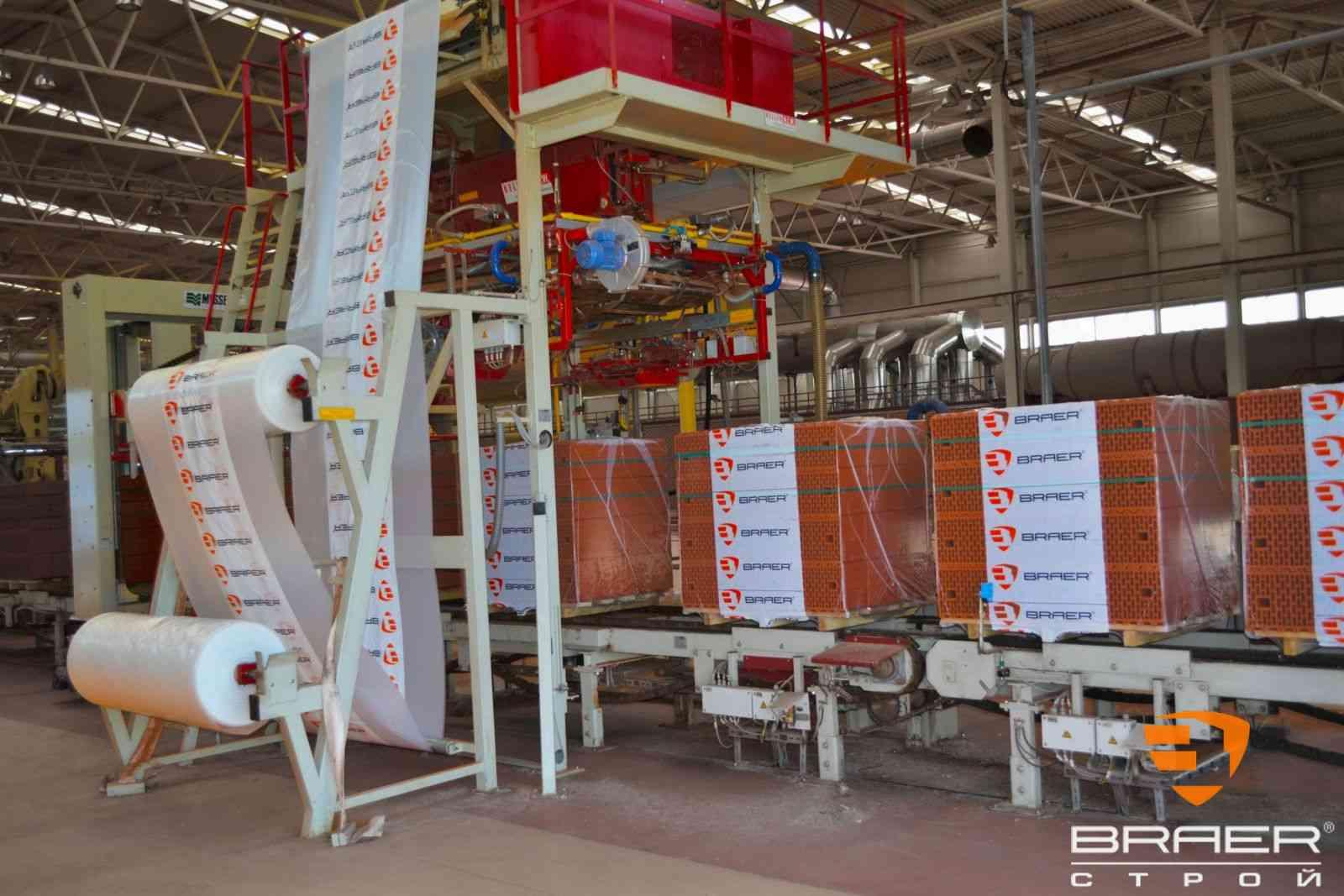 Кирпичный завод - линии упаковки